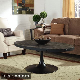 Tour Wood Top Coffee Table in Black
