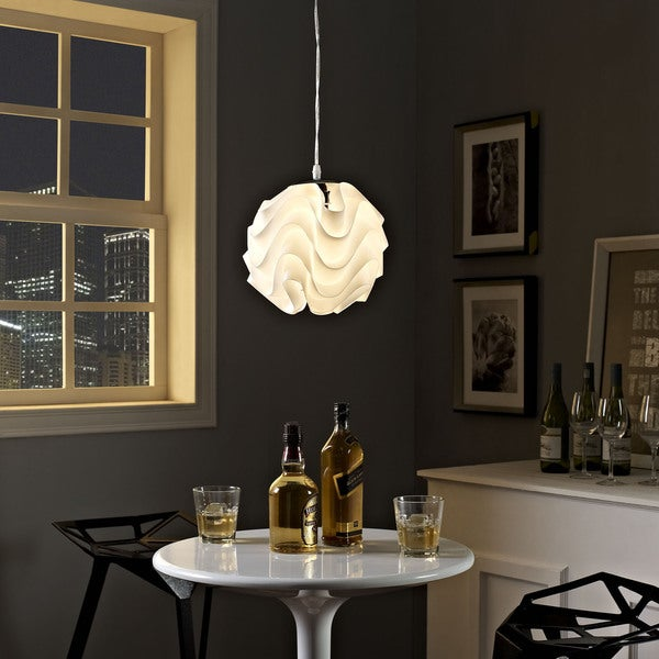 Swell Pendant Light in White
