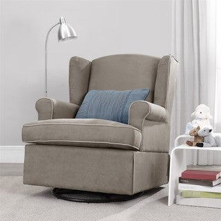 Baby Relax Colby Dark Taupe Swivel Glider