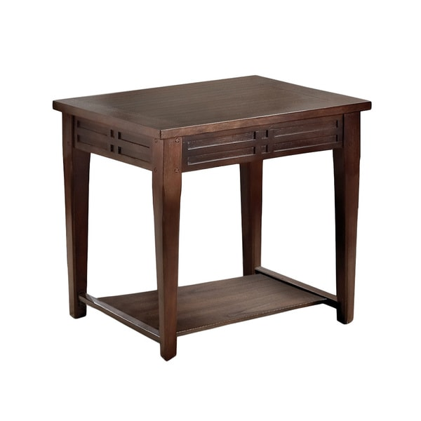 Crosby Mocha Cherry End Table