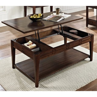 Greyson Living Crosby Mocha Cherry Lift-top Coffee Table with Casters