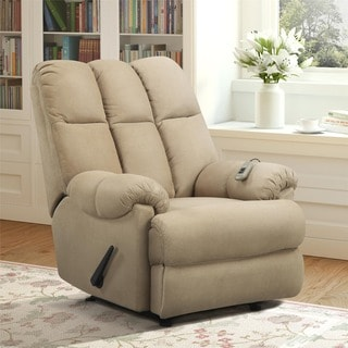 Dorel Living Tan Padded Massage Recliner