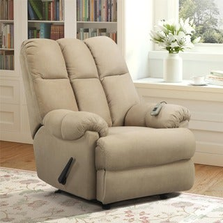Tan Padded Massage Recliner