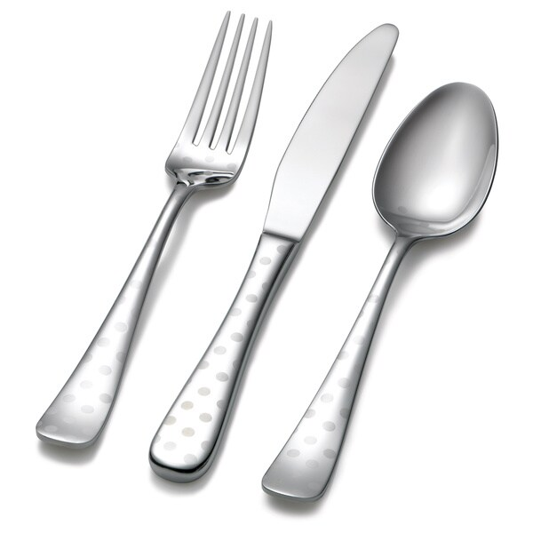 Hampton Forge Dots Laser-etched 45-piece Flatware Set