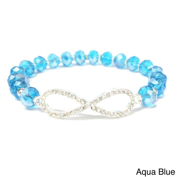 Horizontal Infinity Crystal Stretch Bracelet