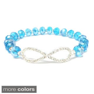Horizontal Infinity Crystal Stretch Bracelet