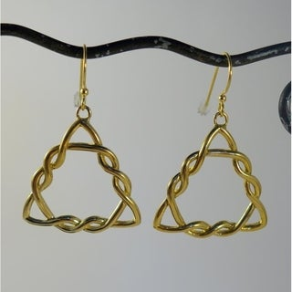 Bali Goldtone Triskelion Dangle Earrings (Indonesia)