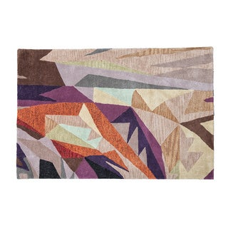 'You Are Already Here' Geometric Designer Area Rug (3' x 6')