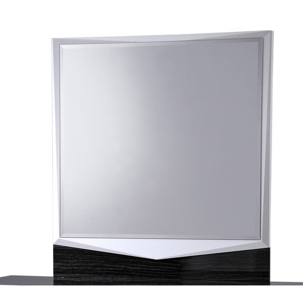 White/ Grey Hudson Mirror