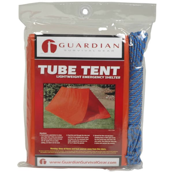 Two-person Emergency Tube Tent with Cord (Set of 10)