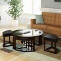 CorLiving Belgrove Espresso Coffee Table and Stool Set