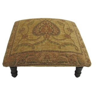 Victorian Design Hand-woven Tan Footstool