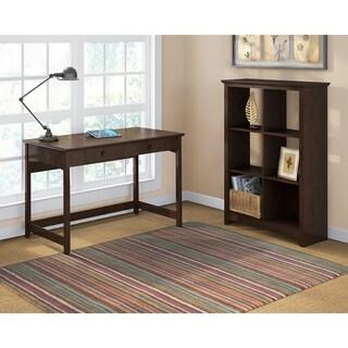 Bush Furniture Buena Vista Writing Desk with 6-cube Storage