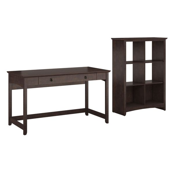 Bush Furniture Buena Vista Writing Desk with 6-cube Storage