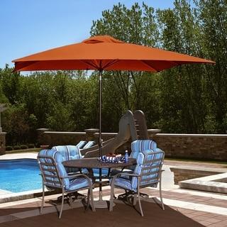 Caspian 8-ft x 10-ft Rectangular Market Umbrella - Push-Button Tilt with Olefin Canopy