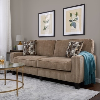 Serta Santa Cruz Collection Platinum Fabric Deluxe Sofa