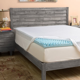 Grande Hotel Collection 4-inch Highloft Supreme Gel Memory Foam Mattress Topper with Polysilk Cover