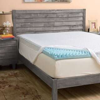 Grande Hotel Collection 3-inch Highloft Supreme Gel Memory Foam Mattress Topper with Polysilk Cover