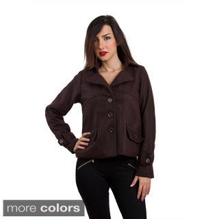 Juniors 'Velzera' Triple Button Peacoat