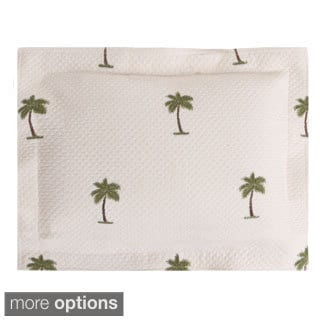 The Palm Throw and Boudoir Pillow Options