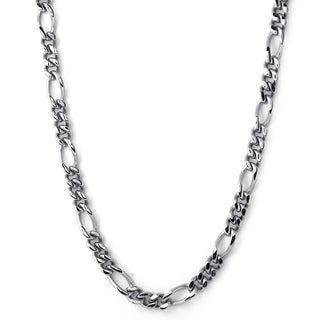Stainless Steel Men's Figaro 30-inch Necklace