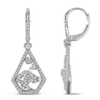 Miadora Signature Collection 14k White Gold 3/4ct TDW Diamond Dangle Earrings (G-H, SI1-SI2)