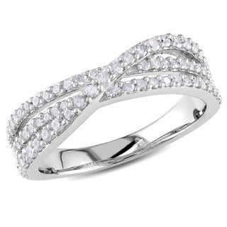 Haylee Jewels Sterling Silver 1/2ct TDW Diamond Ring (H-I, I2-I3)