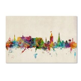 Michael Tompsett 'Edinburgh Scotland Skyline' Canvas Art