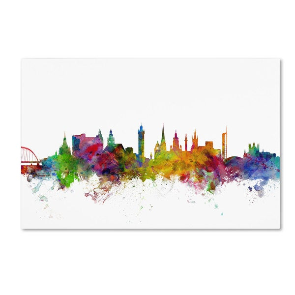 Michael Tompsett 'Glasgow Scotland Skyline II' Canvas Art