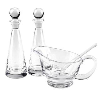 Clear Crystal 4-piece Hostess Set