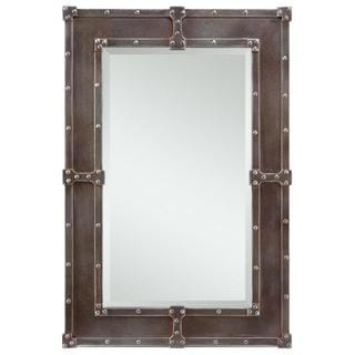 Aria Black and Rust Overtones Hanging Mirror