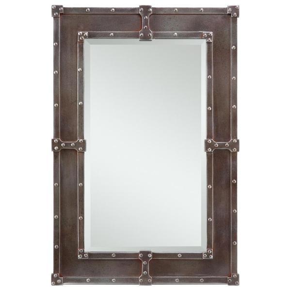 Aria Black and Rust Overtones Hanging Mirror