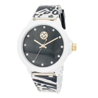 The Macbeth Collection Women's Color Fashion Rubber Band Rope Design Watch