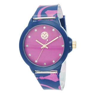The Macbeth Collection Women's Pink Fashion Rubber Band Rope Design Watch