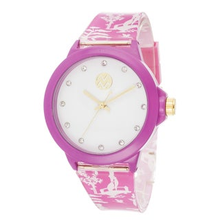 The Macbeth Collection Women's Pink Color Fashion Rubber Band Watch