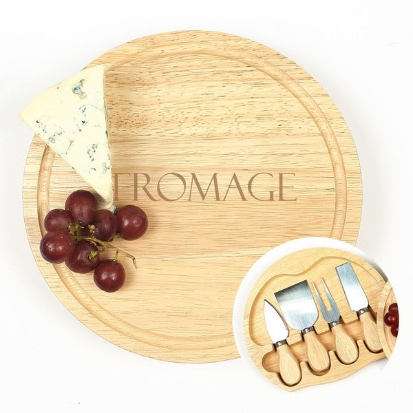 Fromage Gourmet 5-piece Cheese Board Set with Utensils
