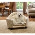 Ultra Plush French White Headboard Furniture Pet Bed