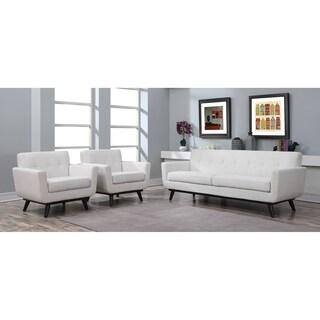 Calvin Beige Linen Modern Sofa