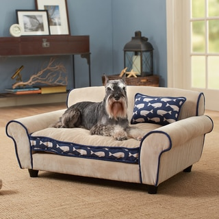 Mattituck Blue/Tan Furniture Pet Bed