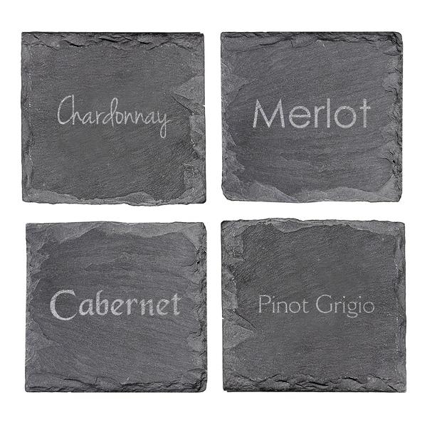 Wine Connoisseur Slate Coasters (Set of 4)