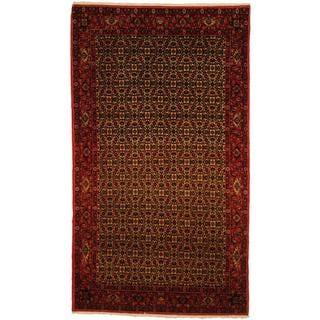 Herat Oriental Persian Hand-knotted Bidjar Ivory/ Red Wool Rug (4'5 x 7'9)
