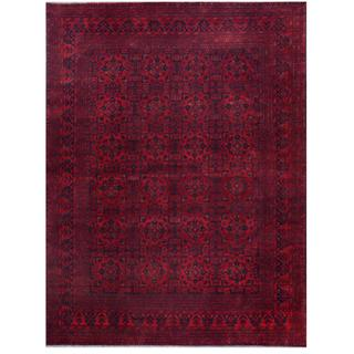 Herat Oriental Afghan Hand-knotted Tribal Khal Mohammadi Red/ Navy Wool Rug (8'3 x 11')