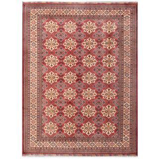 Herat Oriental Afghan Hand-knotted Tribal Karghari Red/ Ivory Wool Rug (8'7 x 11'3)