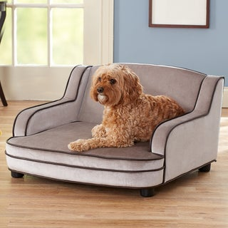 Enchanted Home Pet Cameron Grey Furniture Pet Bed