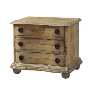 Salvaged Wood 3-drawer Nightstand