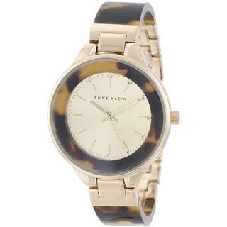 Anne Klein Women's AK-1408CHTO Tortoise Bangle Watch