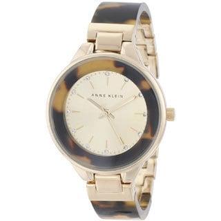 Anne Klein Women's AK-1408CHTO Tortoise Bangle Watch