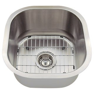 The Polaris Sinks P6171 16-gauge Kitchen Ensemble (Sink, Standard Strainer, Sink Grid, Cutting Board)