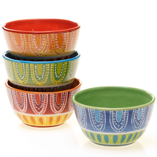 Tapas 6-inch Assorted Ice Cream Bowls (Set of 4)