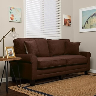 Serta RTA Trinidad Collection 78-inch Chocolate Fabric Sofa